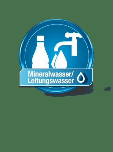 Mineralwasser-Leitungswasser