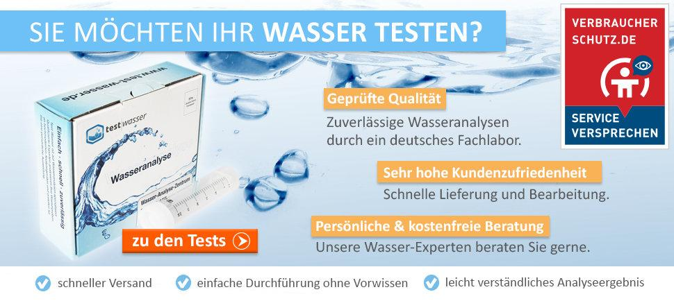 Wasseranalysen von test-Wasser: Jetzt passende Analyse für Ihr Zuhause finden.
