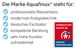 Die Vorteile der Wassertests von Aquafinux - empfohlen von Verbraucherschutz.de