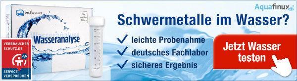 Ein test der Wasserleitung überprüft Ihr Trinkwasser auf schädliche Schwermetalle