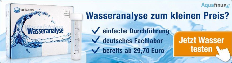 Wasserqualität in Stuttgart testen - zum kleinen Preis bei Test-Wasser