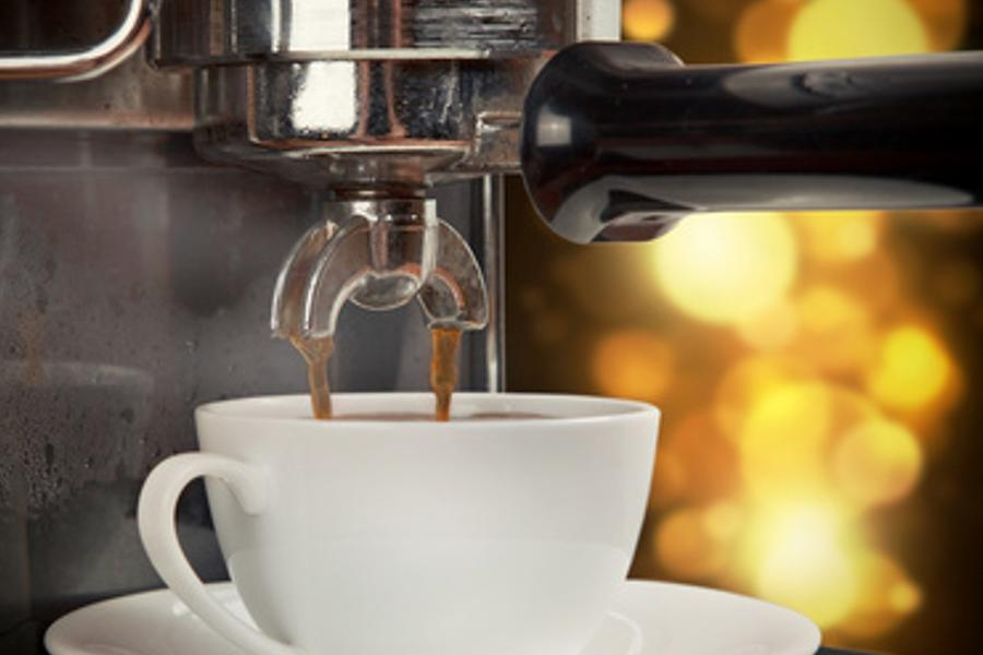 Kaffeemaschine mit Blei